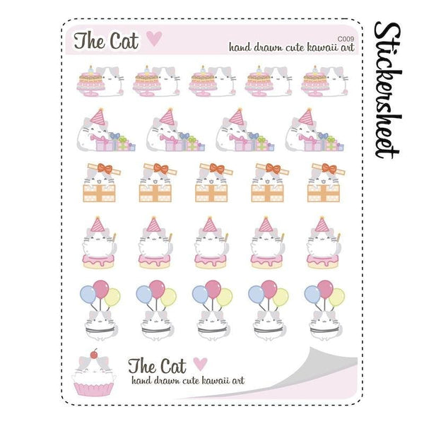 C009 | birthday stickers TwinkleTheUnicorn