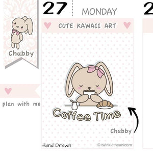 CB008| Coffee Planner Stickers TwinkleTheUnicorn