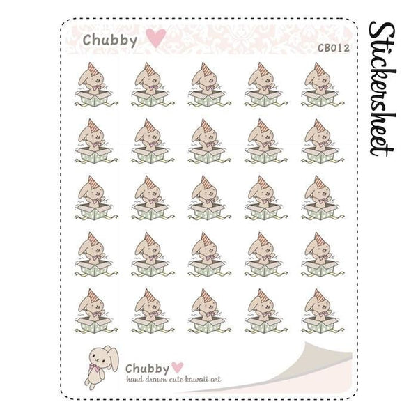CB012 | Birthday Planner Stickers TwinkleTheUnicorn