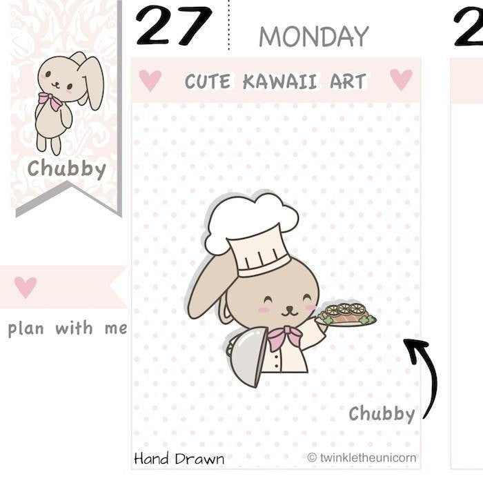 CB016 | Cooking Planner Stickers TwinkleTheUnicorn