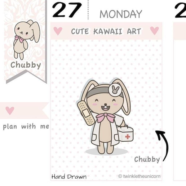 CB018 | Doctor Planner Stickers TwinkleTheUnicorn