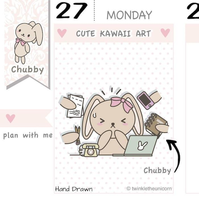 CB021 | Work Planner Stickers TwinkleTheUnicorn