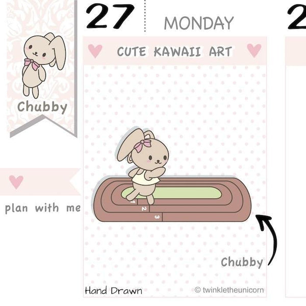 CB024 | Running Planner Stickers TwinkleTheUnicorn
