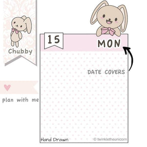 CB03 | Date Cover Planner Stickers TwinkleTheUnicorn