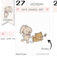 CB031 | Pet Planner Stickers TwinkleTheUnicorn