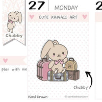 CB032 | Travel Planner Stickers TwinkleTheUnicorn