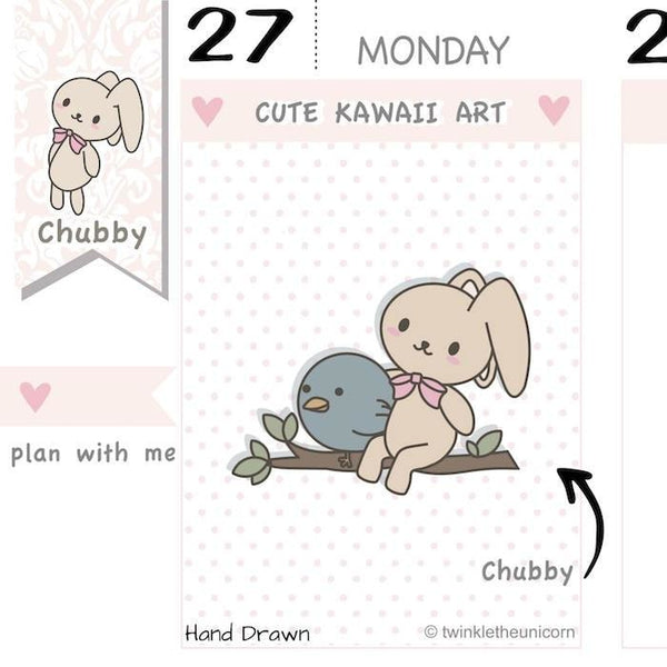 CB033 | Twitter Planner Stickers TwinkleTheUnicorn