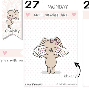 CB035 | Plan With Me Planner Stickers TwinkleTheUnicorn