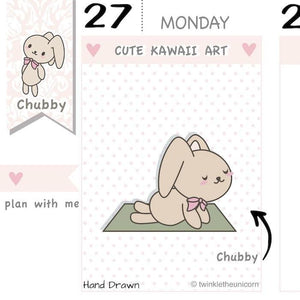 CB036 | Workout Planner Stickers TwinkleTheUnicorn