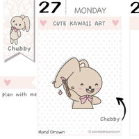 CB038 | Doodle Planner Stickers TwinkleTheUnicorn