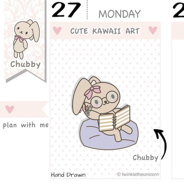 CB039 | Planner Girl Planner Stickers TwinkleTheUnicorn