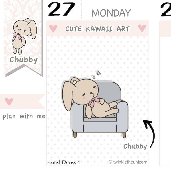 CB049 | Lazy Day Planner Stickers TwinkleTheUnicorn