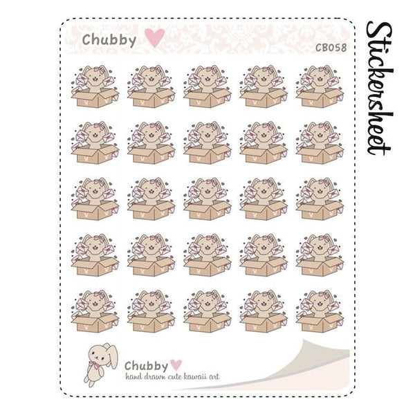 CB058 | Happy Mail Planner Stickers TwinkleTheUnicorn