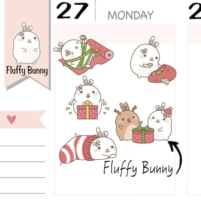 Christmas Planner Stickers FB015 TwinkleTheUnicorn