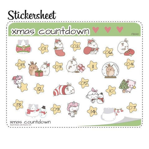 Christmas Planner Stickers FB040 TwinkleTheUnicorn