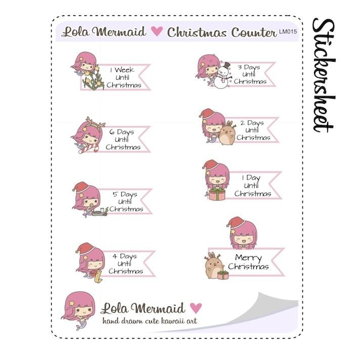 christmas planner stickers L015 TwinkleTheUnicorn