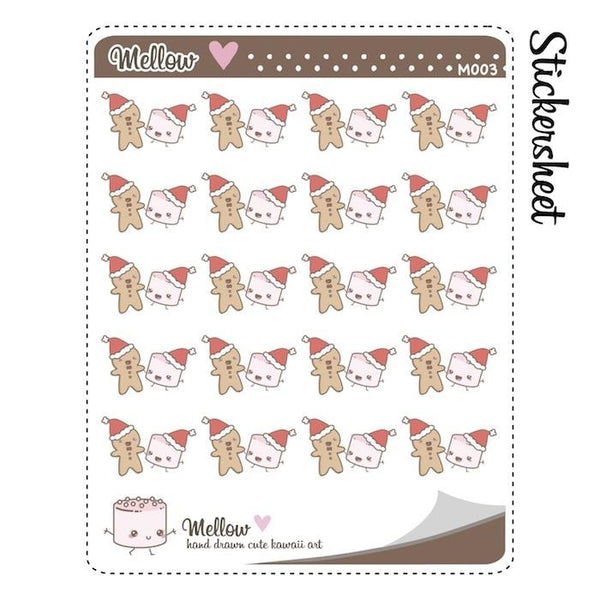 christmas planner stickers M003 TwinkleTheUnicorn