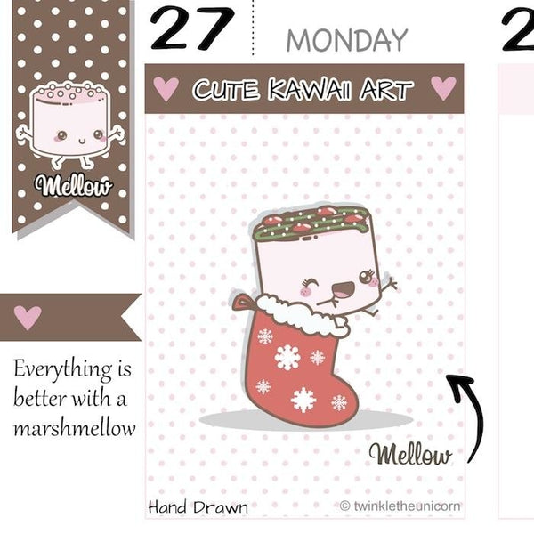 christmas planner stickers M005 TwinkleTheUnicorn
