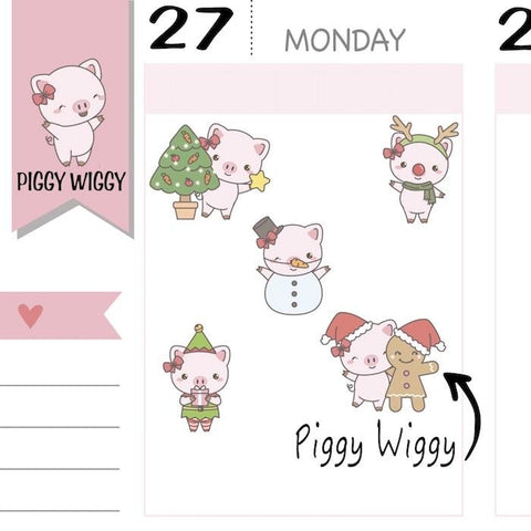 christmas stickers PW020 TwinkleTheUnicorn