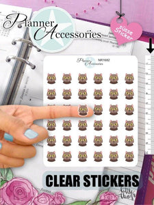 Clear Cat Stickers NR1682 EmelysPlannerShop