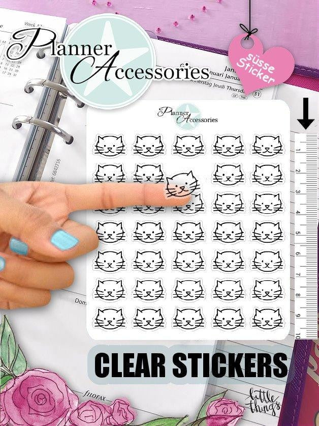 Clear Cat Stickers NR409 EmelysPlannerShop