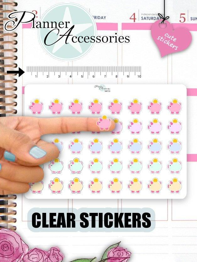 Clear Money Stickers NR732 EmelysPlannerShop