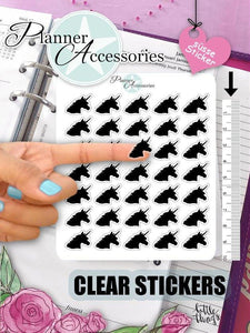 Clear Unicorn Stickers 379 EmelysPlannerShop