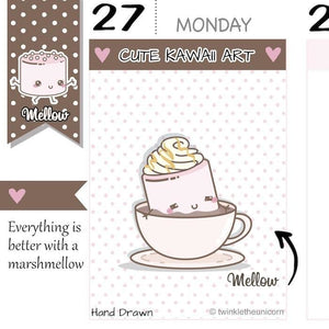 coffee planner stickers M024 TwinkleTheUnicorn