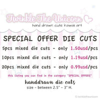 DC020 Customizable Planner Die Cuts TwinkleTheUnicorn