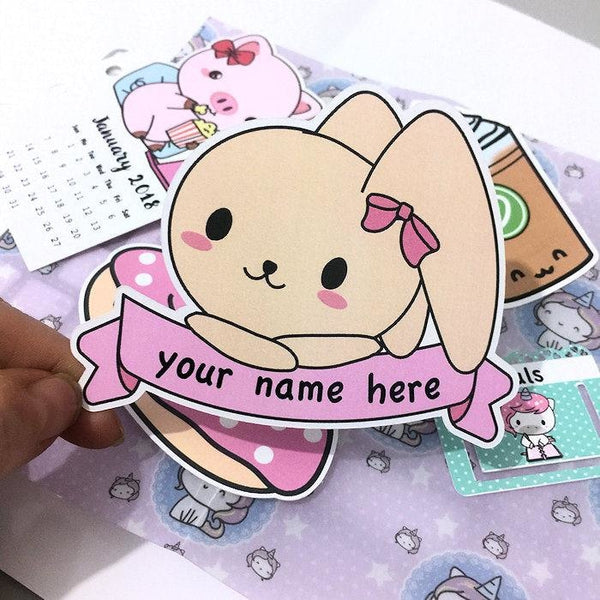 DC219 Personalized Name Die Cut TwinkleTheUnicorn