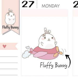 FB007 | travel planner stickers TwinkleTheUnicorn