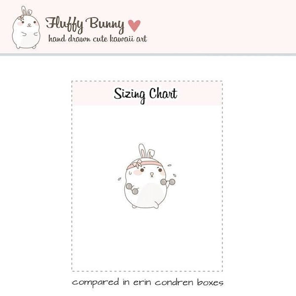 FB036| bunny weights planner stickers TwinkleTheUnicorn