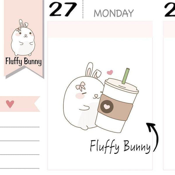 FB054 | kawaii coffee stickers TwinkleTheUnicorn