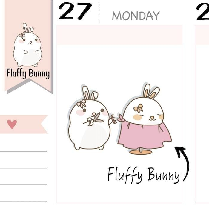 FB075 | Hair Cut Planner Stickers TwinkleTheUnicorn