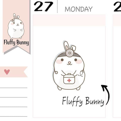 FB077 | Doctor Planner Stickers TwinkleTheUnicorn