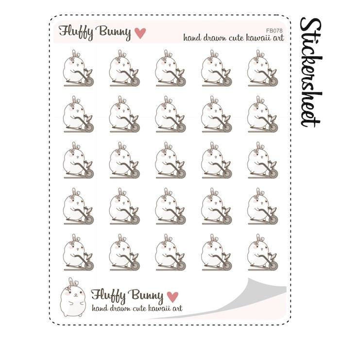 FB078 | Fitness Planner Stickers TwinkleTheUnicorn