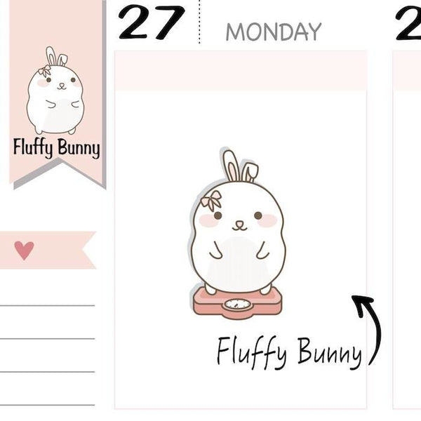 FB079| Weight Tracker Planner Stickers TwinkleTheUnicorn