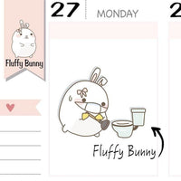 FB081 | Cleaning Planner Stickers TwinkleTheUnicorn