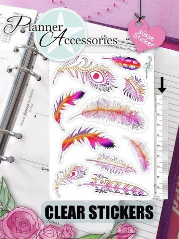 Feather Stickers 428 EmelysPlannerShop