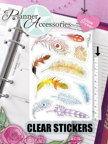 Feather Stickers 430 EmelysPlannerShop
