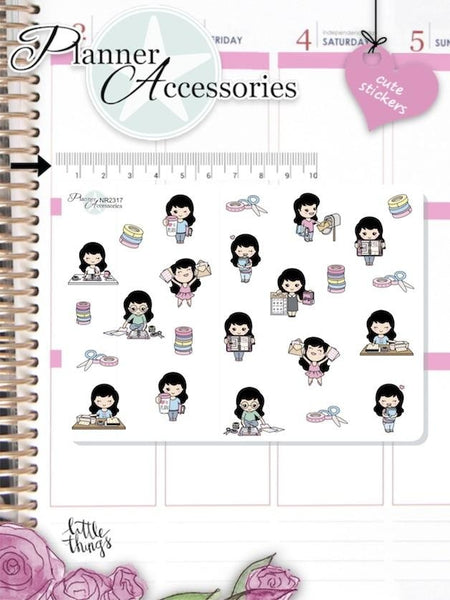 Girl Planner Addict Stickers 2317 EmelysPlannerShop