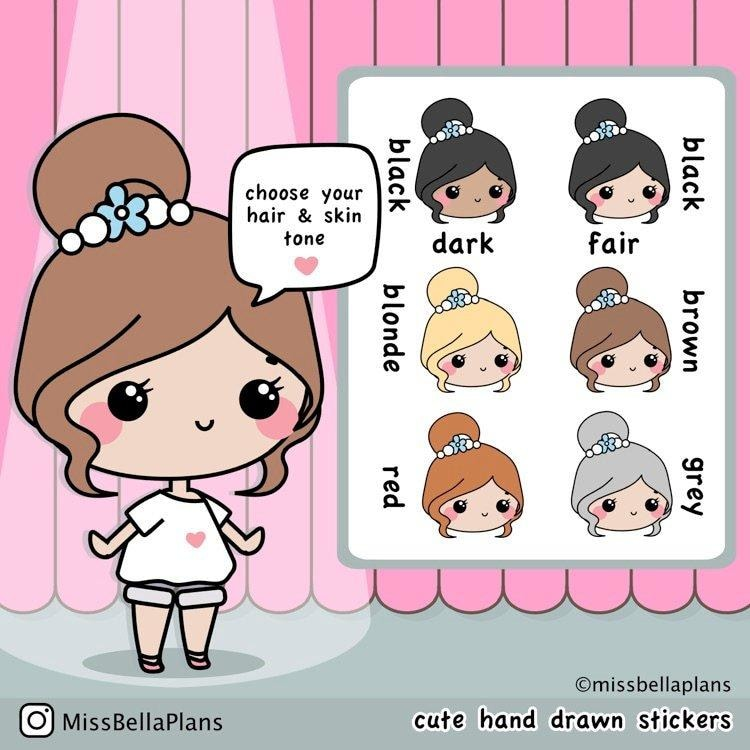 Hair Salon Stickers 030 EmelysPlannerShop