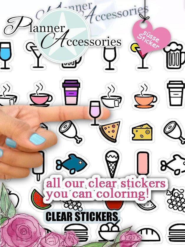 Icon Cocktail Stickers NR806 EmelysPlannerShop