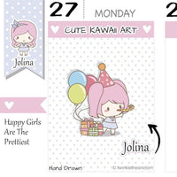 J009 | birthday stickers TwinkleTheUnicorn