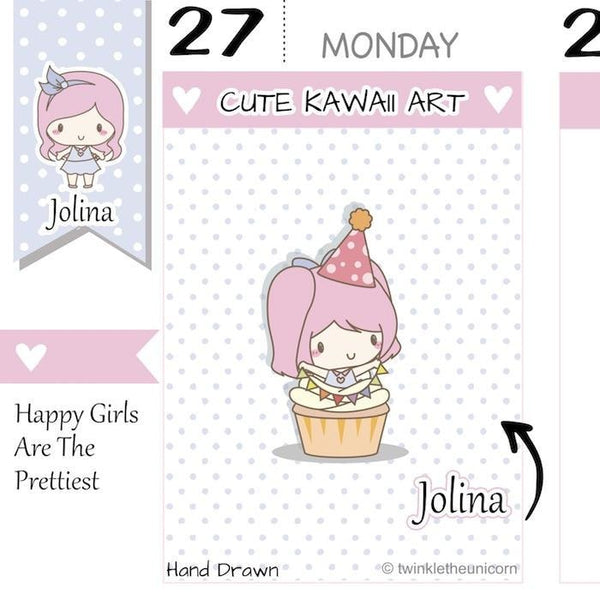 J010 | birthday stickers TwinkleTheUnicorn