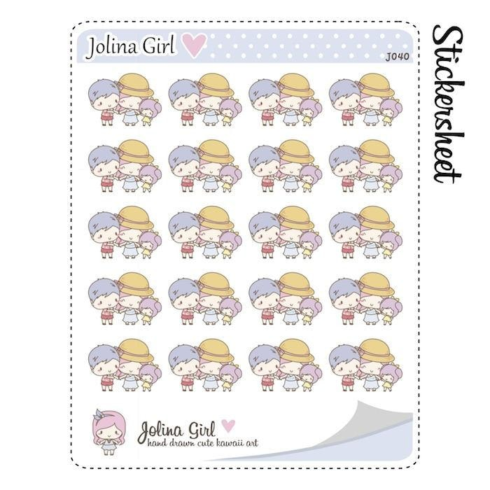 J040 | family stickers TwinkleTheUnicorn