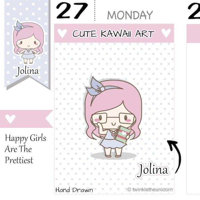 J050 | planner girl stickers TwinkleTheUnicorn