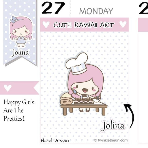 J056 | Baking Planner Stickers TwinkleTheUnicorn