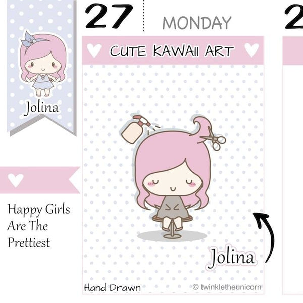 J059 | Hair Appointment Planner Stickers TwinkleTheUnicorn