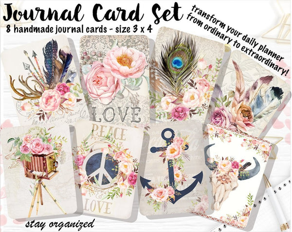 Journal Cards JC001 EmelysPlannerShop